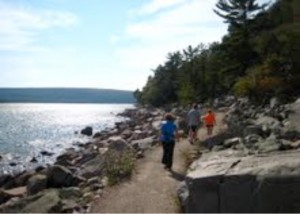 Club Members Walking at Devil's Lake State Park